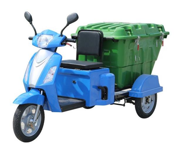 电动三轮翻斗垃圾车